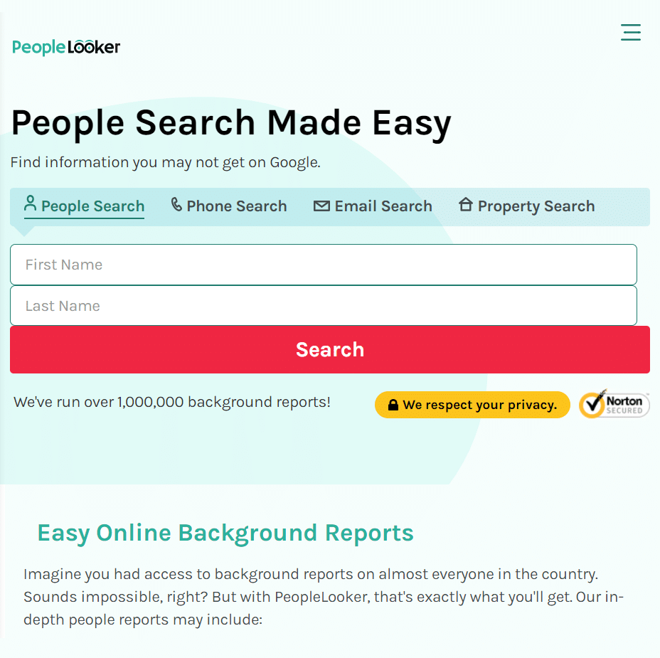 Best Background Check for Dating - PeopleLooker review