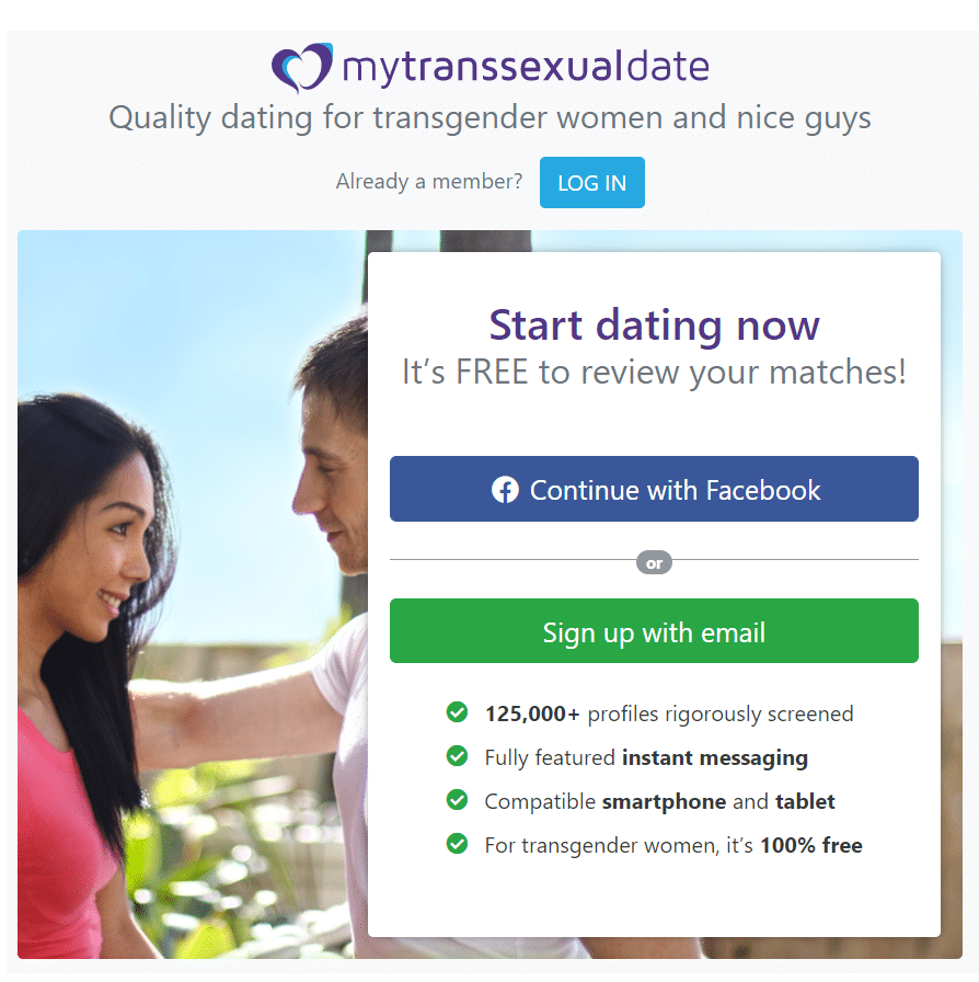 Best transgender dating sites - My Transsexual Date review