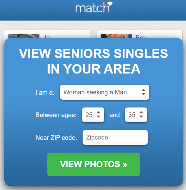 best dating sites for seniors - match.com review