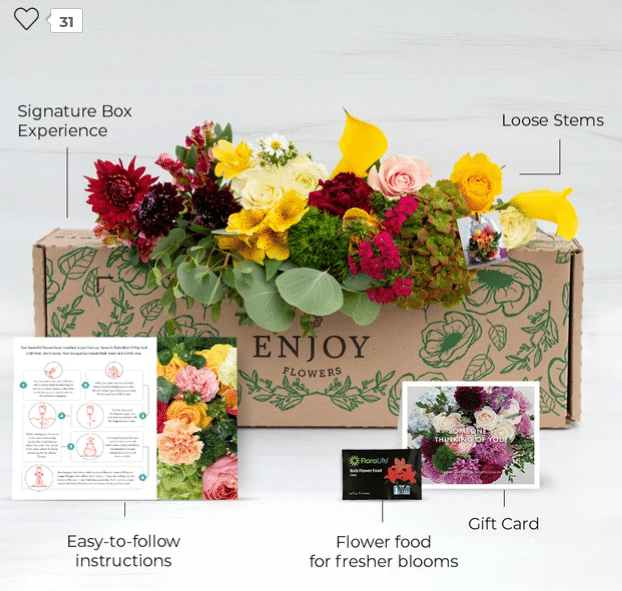 best subscription boxes for women - enjoy flowers review